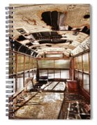 Old School Bus In Motion Hdr Spiral Notebook