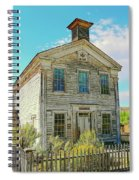 Old School House Bannack Ghost Town Montana Spiral Notebook