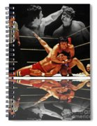 Old School Wrestling Headlock By Dean Ho On Don Muraco With Reflection Spiral Notebook