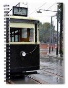 Old Shanghai Trolley Tram Car Rests In Tracks Spiral Notebook