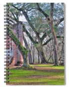 Old Sheldon Church Angled With Tombs Spiral Notebook