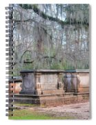 Old Sheldon Church Broken Tombs Spiral Notebook