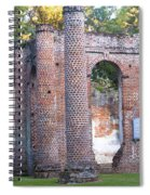 Old Sheldon Church Front Left Spiral Notebook