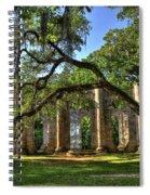 Old Sheldon Church Ruins 2 Spiral Notebook