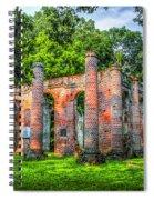 Old Sheldon Church Ruins Spiral Notebook