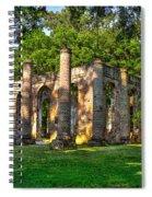 Old Sheldon Church Ruins In South Carolina Spiral Notebook