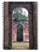 Old Sheldon Ruins Archway Spiral Notebook