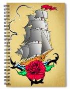 Old Ship Tattoo  Spiral Notebook