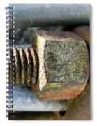 Old Silo Stave Bolt Spiral Notebook