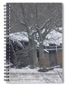 Old Snowy House Spiral Notebook