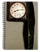 Old Square Clock Spiral Notebook