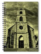 Old St. Mary's Church In Fredericksburg Texas In Sepia Spiral Notebook
