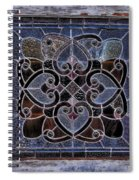 Old Stain Glass Window Spiral Notebook