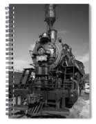 Old Steam Engine Black And White Spiral Notebook