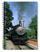 Old Steam Train Spiral Notebook