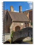 Old Stone Bridge In Bruges  Spiral Notebook