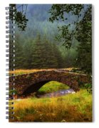 Old Stone Bridge Over Kinglas River. Scotland Spiral Notebook
