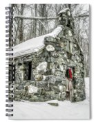 Old Stone Chapel Stowe Vermont Spiral Notebook