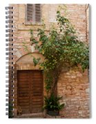 Old Stone House With Plants  Spiral Notebook