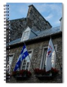 Old Stone Houses In Quebec City Canada  Spiral Notebook