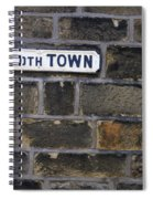 Old Street Sign Spiral Notebook