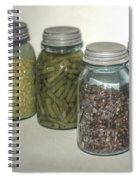 Old Style Vintage Kitchen Glass Jar Canning Spiral Notebook
