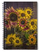 Old Sunflowers Spiral Notebook