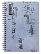 Old Tattoo Gun Patent Spiral Notebook