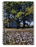 Old Time Farm And Cotton Fields Spiral Notebook