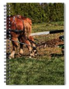 Old Time Horse Plowing Spiral Notebook