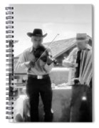 Old Time Musicians Bw Spiral Notebook