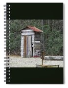 Old Time Outhouse And Pitcher Pump Spiral Notebook