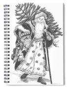 Old Time Santa With Violin Spiral Notebook
