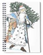 Old Time Santa With Violin2 Spiral Notebook