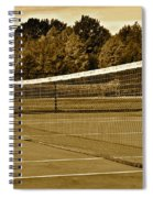 Old Time Tennis Spiral Notebook