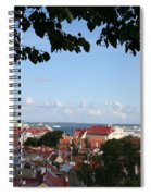 Old Town And Harbor - Tallinn Spiral Notebook