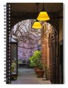 Old Town Courtyard In Victoria British Columbia Spiral Notebook