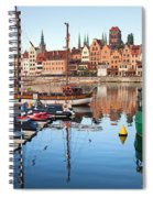Old Town Of Gdansk Skyline And Marina Spiral Notebook