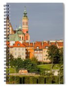 Old Town Of Warsaw Skyline Spiral Notebook
