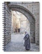 Old Town Street Of Jerusalem Israel Spiral Notebook