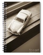 Old Toy Car On The Window Sill Spiral Notebook