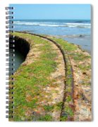 Old Tracks By The Ocean Spiral Notebook