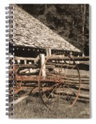 Old Vintage Antique Tractor In Appalachia Spiral Notebook