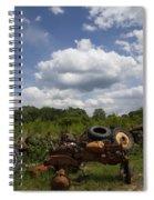 Old Tractor Junkyard Spiral Notebook