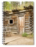 Old Traditional Log Cabin Rotting In Yukon Taiga Spiral Notebook
