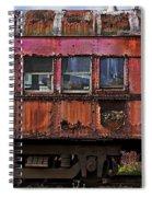 Old Train Car Spiral Notebook