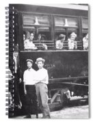 Old Train Station Black And White Spiral Notebook