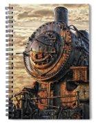 Old Train Still In Light Spiral Notebook