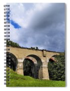Old Train Viaduct In Poland Spiral Notebook