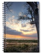 Old Tree Sunset Over Oyster Bay Spiral Notebook